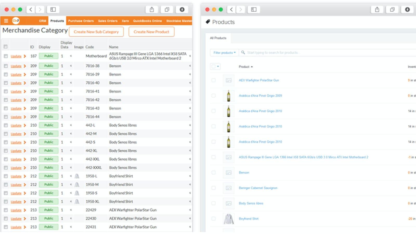 Cin7 Software - Cin7 products