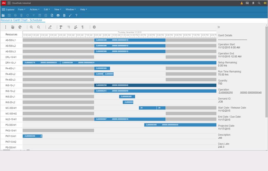 Infor CloudSuite Industrial (SyteLine) - Scheduling
