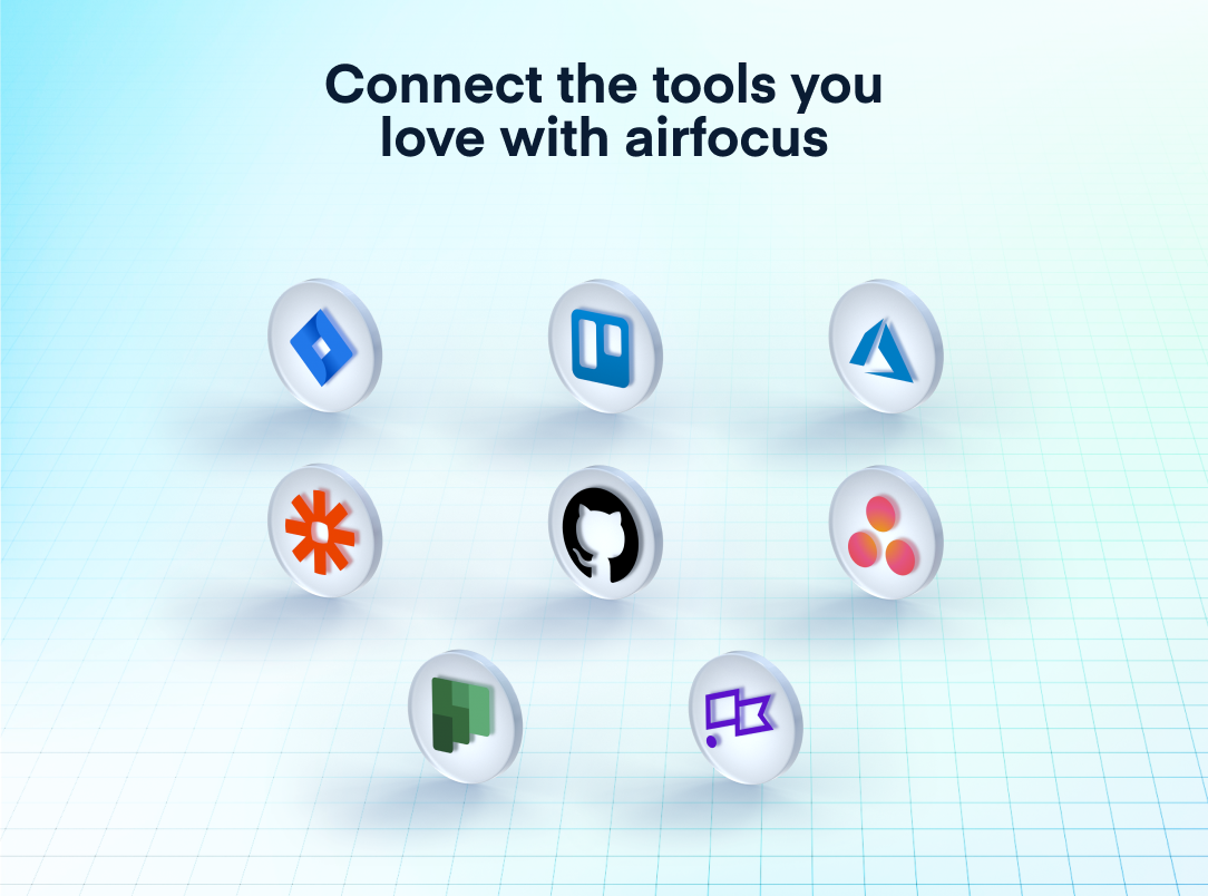 airfocus Software - Connect the tools you love: save time and keep everyone in sync. Jira, Trello, Clubhouse, Azure DevOps, Asana, Zapier, and more.