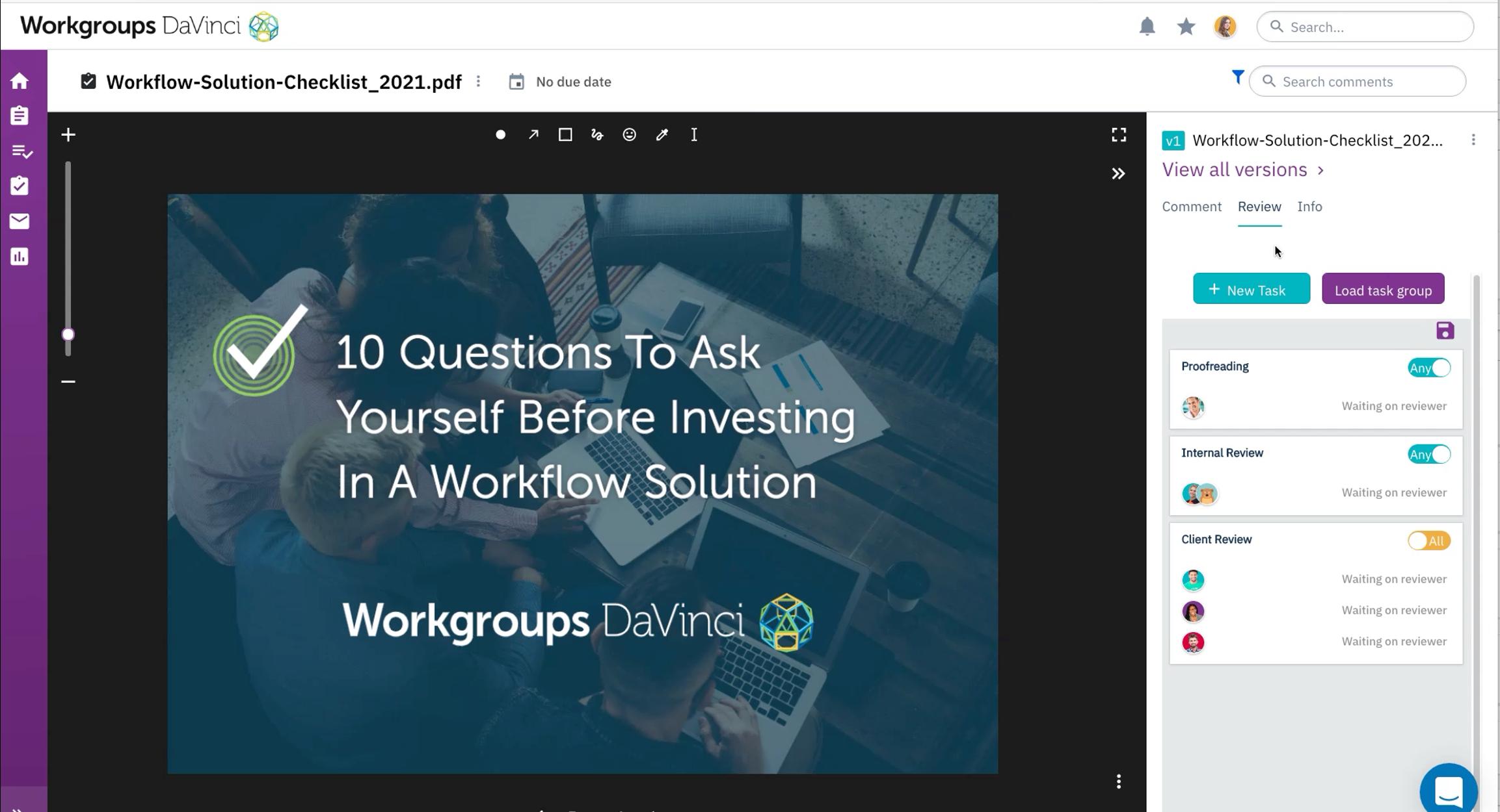 Workgroups DaVinci Logiciel - 2