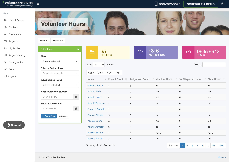 VolunteerMatters Software - 3