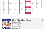 Gymcatch screenshot: Gymcatch appointment calendar