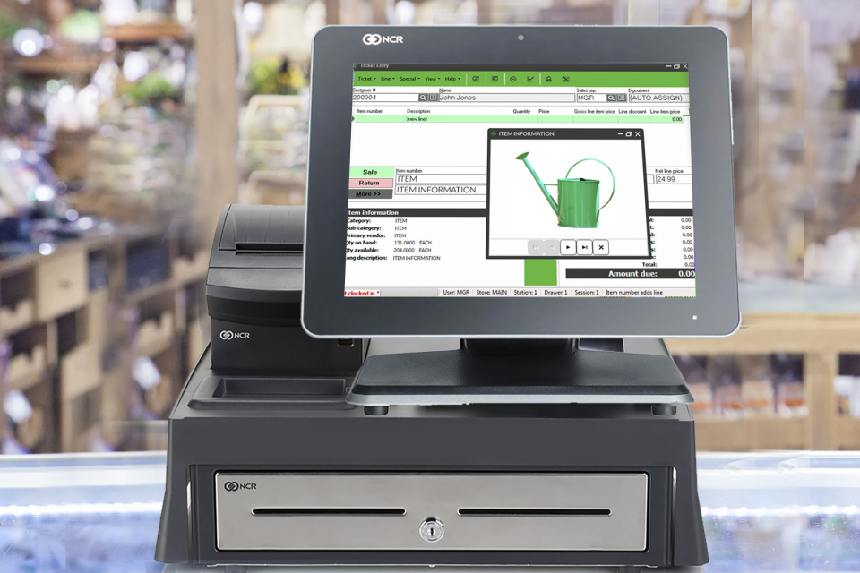 Rapid Garden POS screenshot: Rapid Garden POS allows users to manage their inventory anywhere - in their stores, yards, greenhouses, warehouses or grow sites