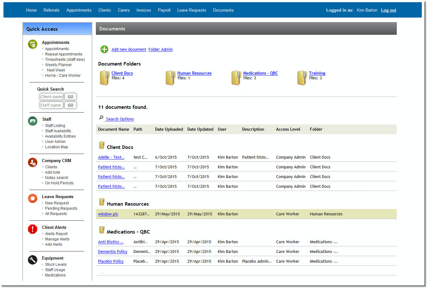 Utilize centralized depositary for company documents