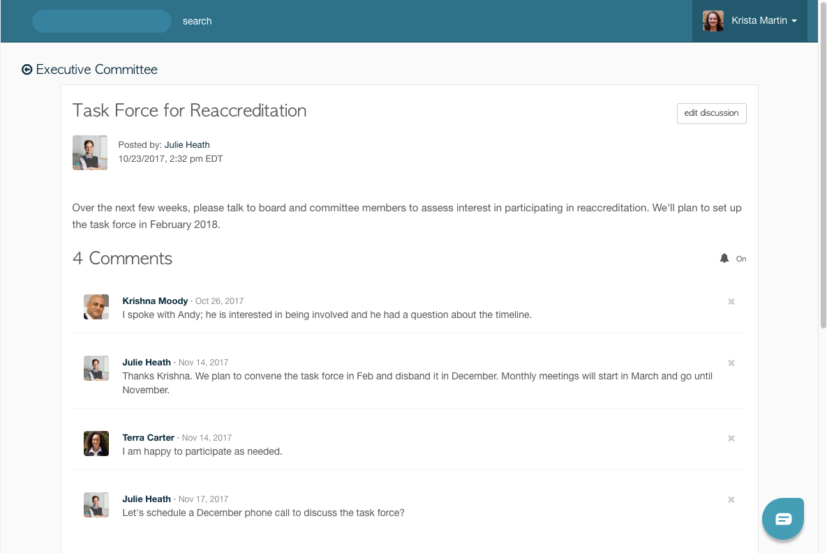 Boardable Software - Boardable group discussion