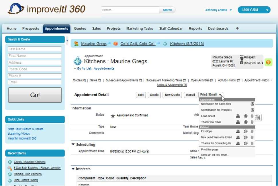 improveit 360 Appointments