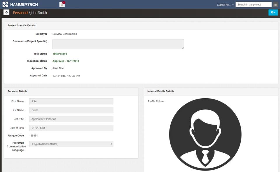 HammerTech online enrollment screenshot