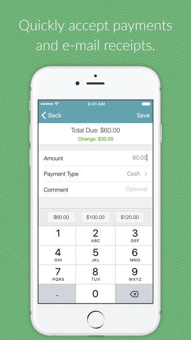 Safely and securely accept payments before emailing receipts out to customers