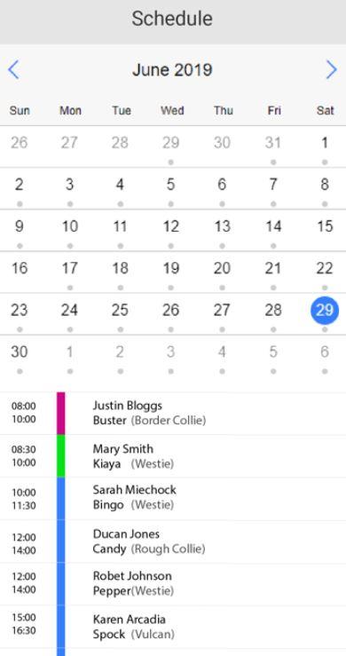 ShakeYourTail schedules