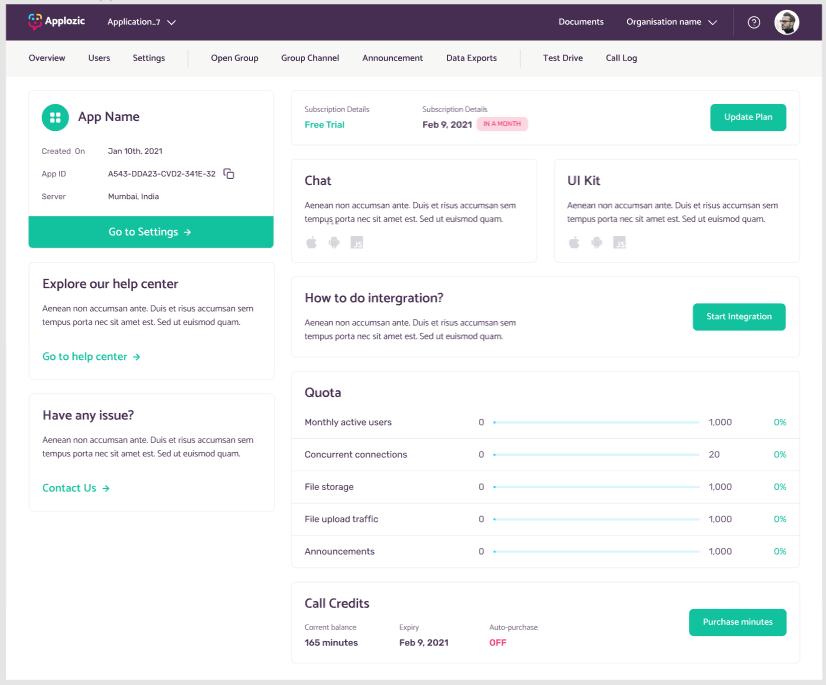 Applozic Homepage
