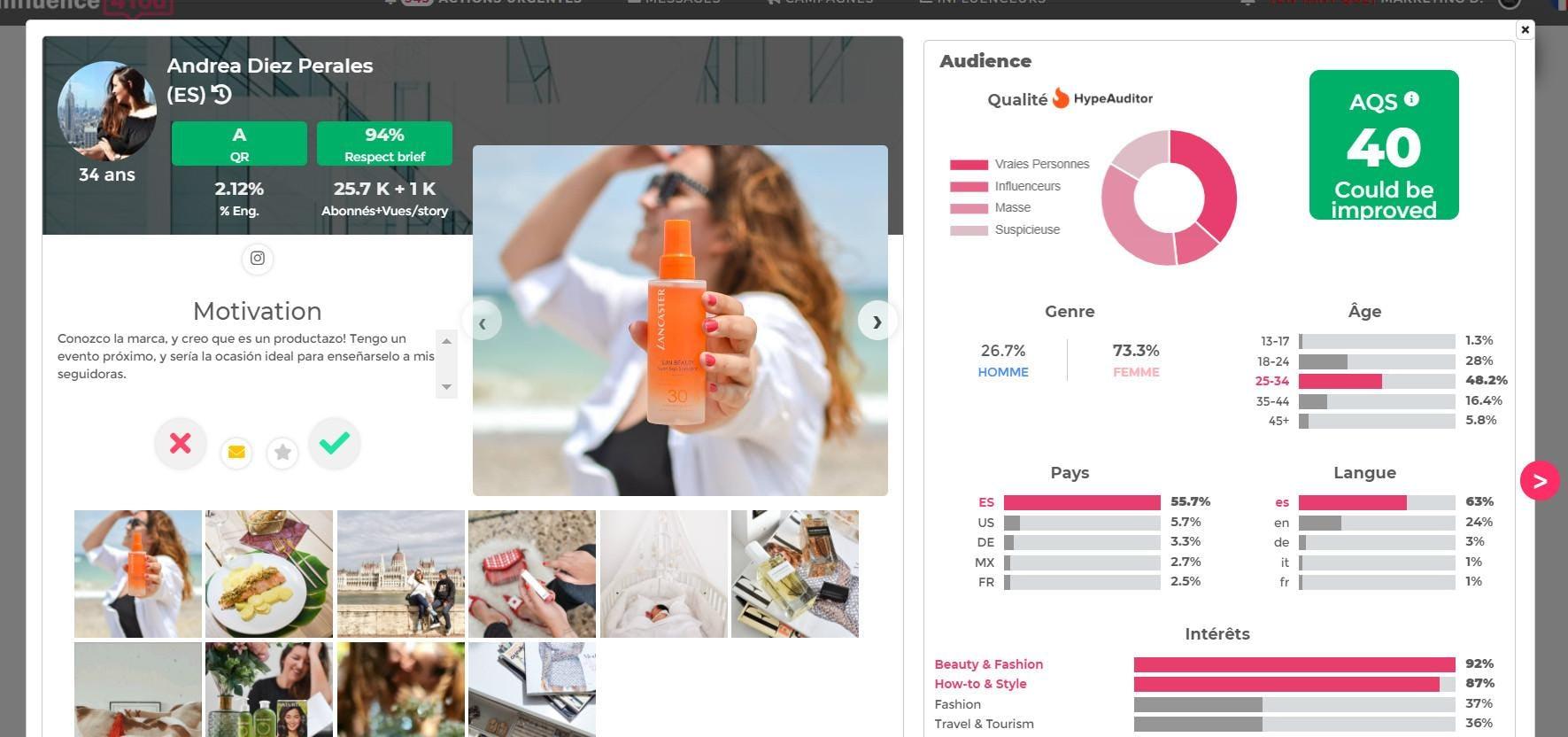 Influence4You Software - Fake influencer detection