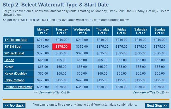 Cobalt Silver Software - Select watercraft type