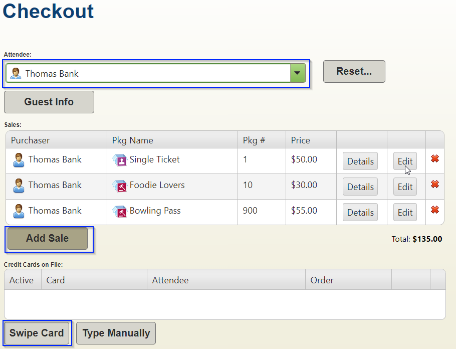 Greater Giving Event Software guest checkout screenshot
