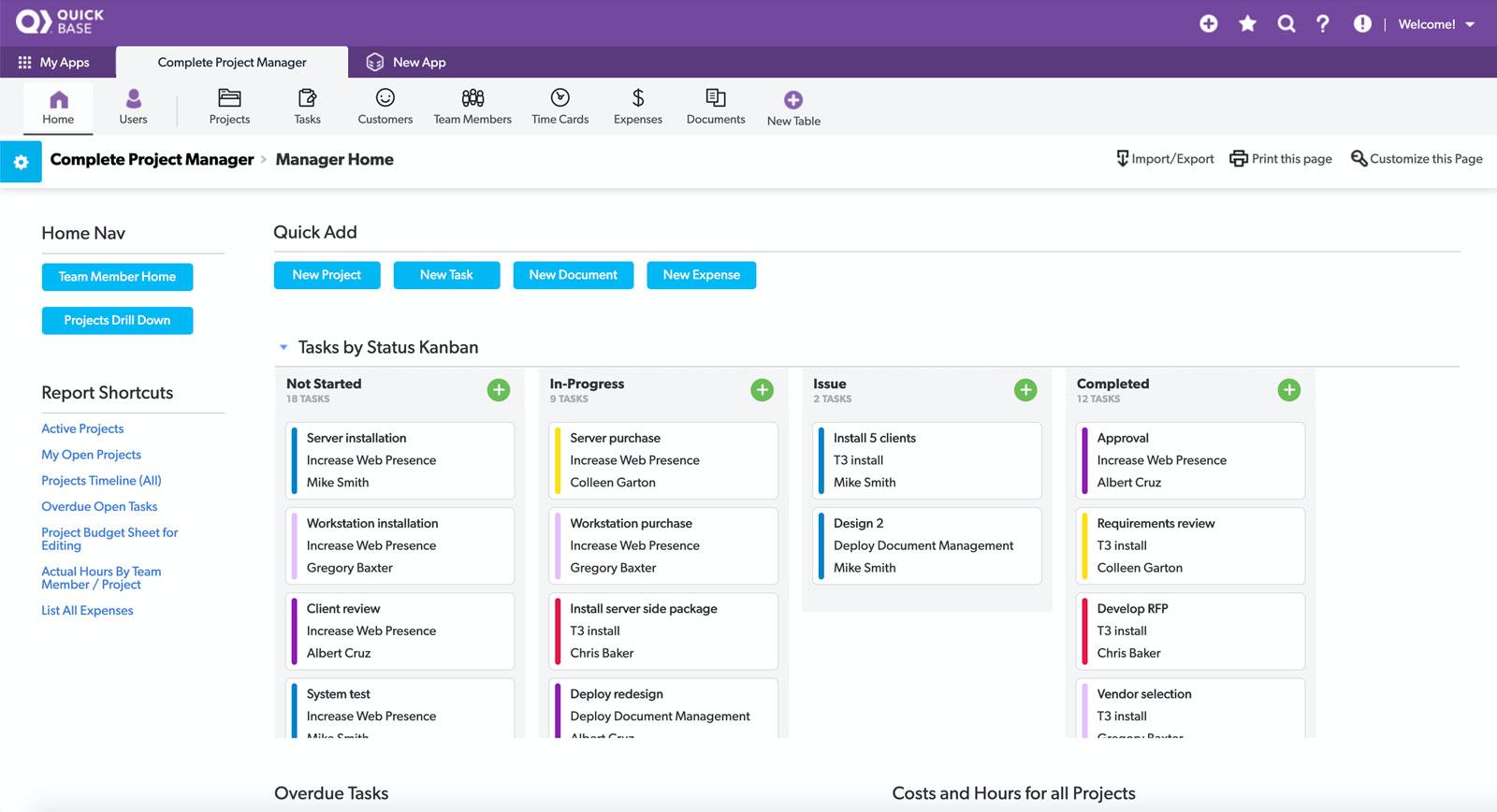 Quickbase Software - Visual Builder for no code application development