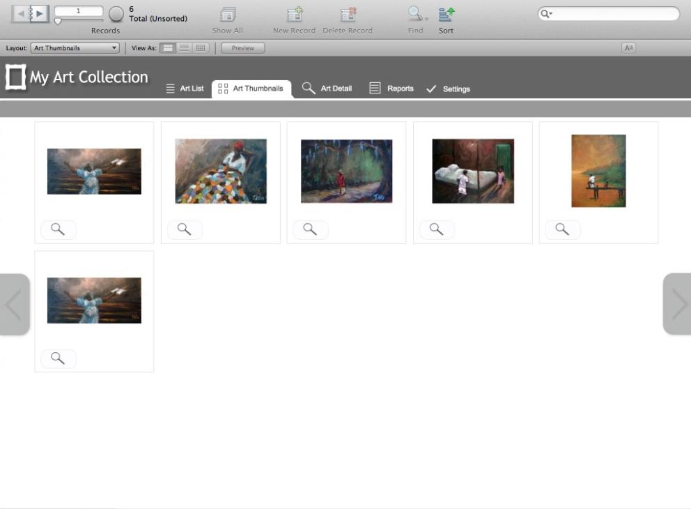 My Art Collection art thumbnails