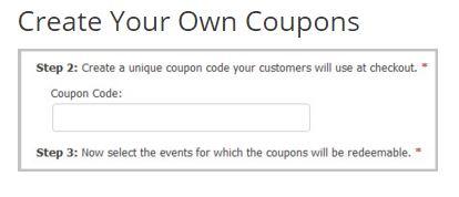 ThunderTix coupon creation