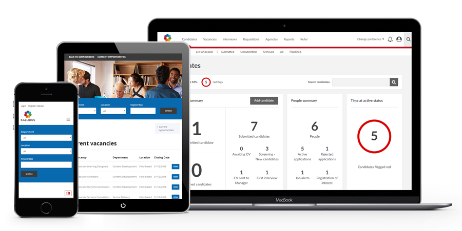 Kallidus Recruit screenshot: Kallidus Recruit offers end-to-end applicant tracking