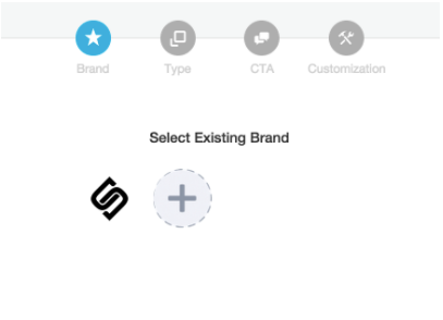Users can select an existing brand or create a new brand