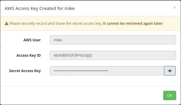 Turbot screenshot: Turbot access keys