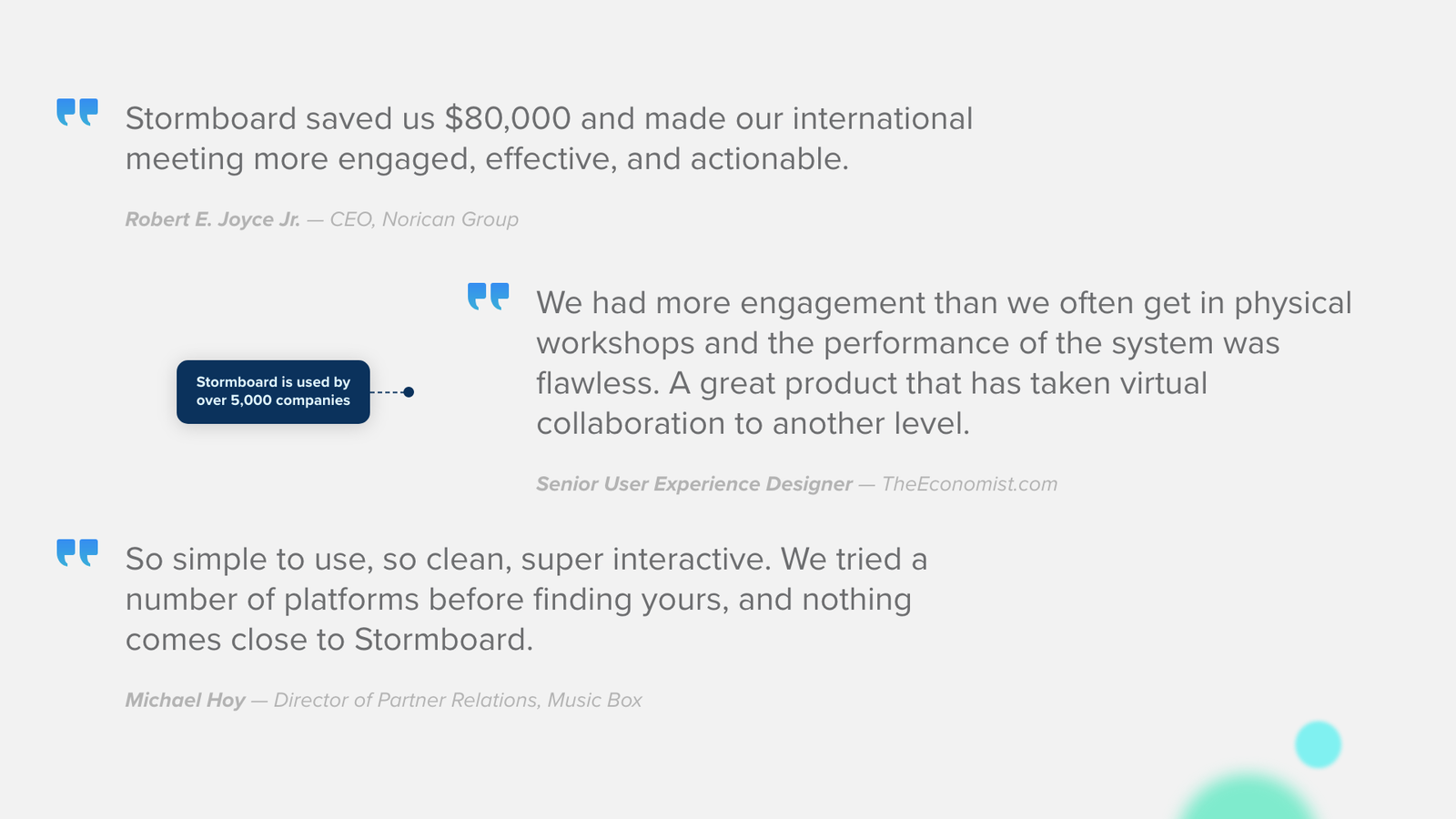 Stormboard is used by over 5,000 companies