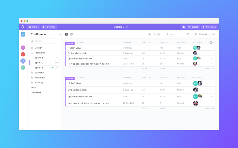 List View enables users to manage tasks seamlessly using multitask technology. It's the most flexible view in terms of grouping, sorting, and filtering.