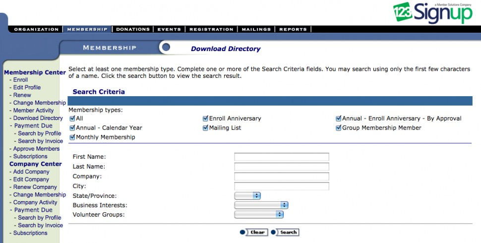 123Signup download directory