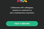 Captura de pantalla de Zoho Meeting:
