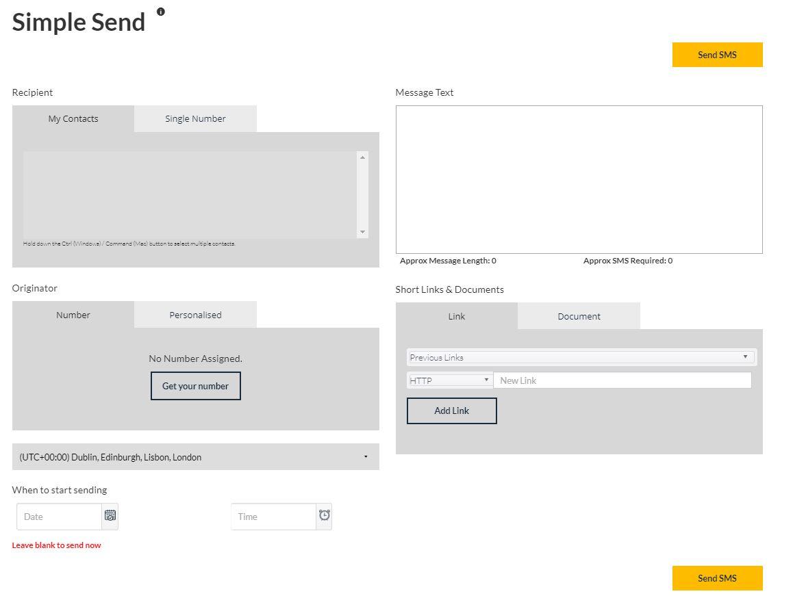 Reach Interactive sending messages screenshot