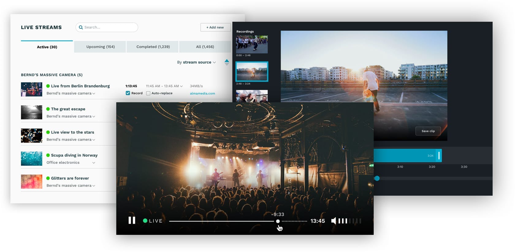 Live streaming features