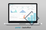 Capture d'écran pour Revogear : The backoffice portal provides a dashboard with at-a-glance analytics on accounts, fees, loads, exchanges, and more
