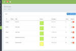 Ovatu Screenshot: Set up services with categories, color codes, and prices