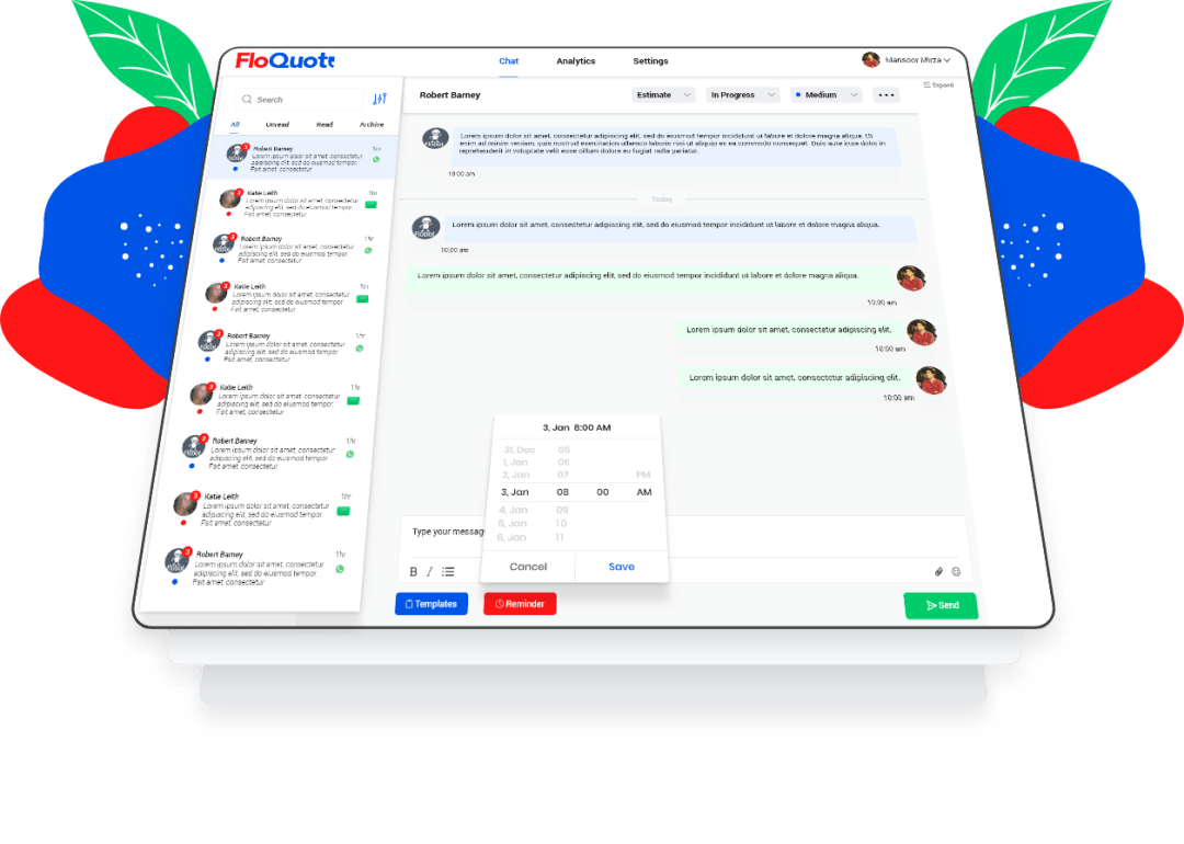 FloQuote chat interface
