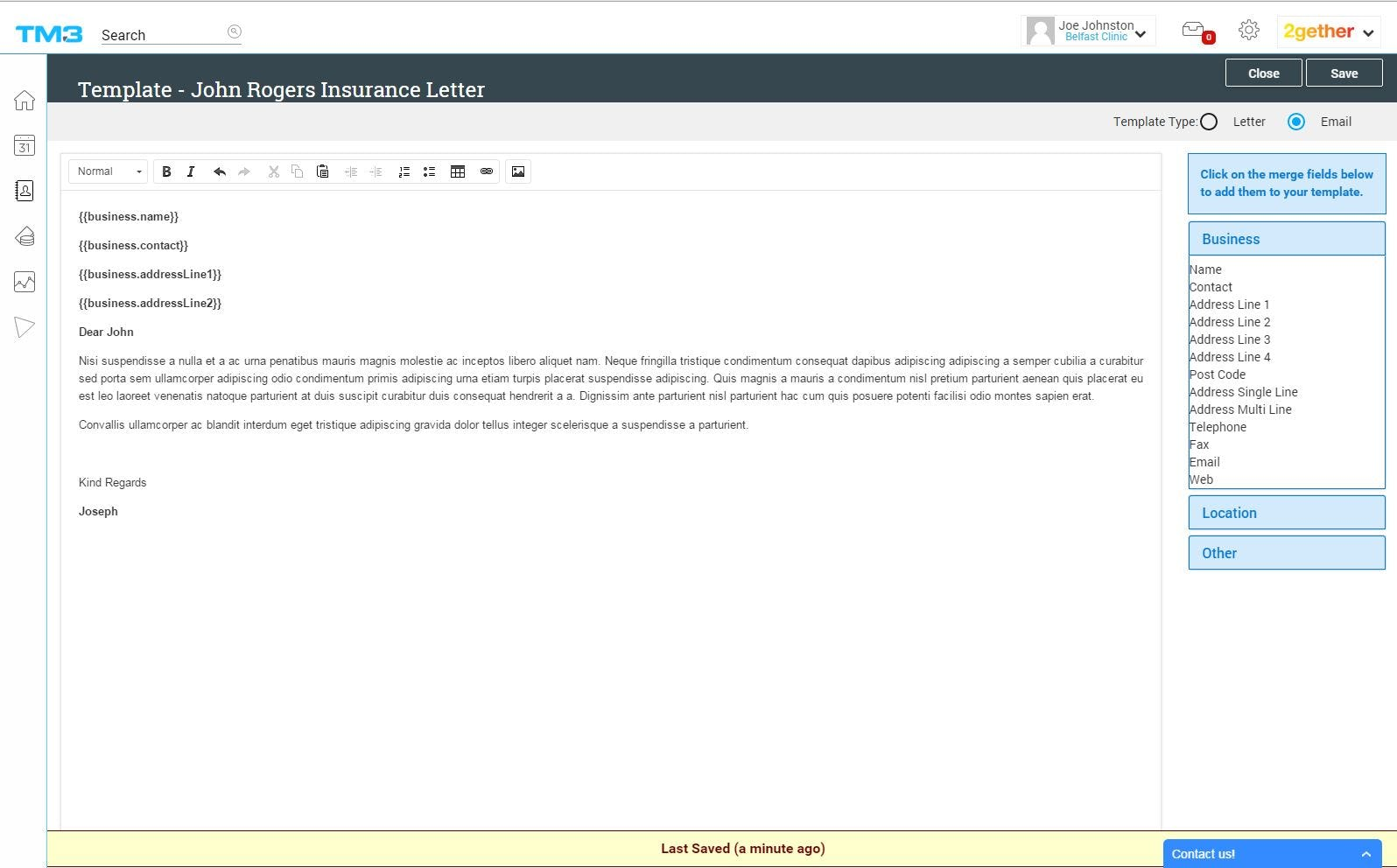 TM3 Software - Email communications