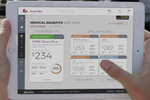 EBenefits screenshot: Employees can view their medical benefits