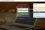 The Legal Assistant screenshot: The Legal Assistant user login