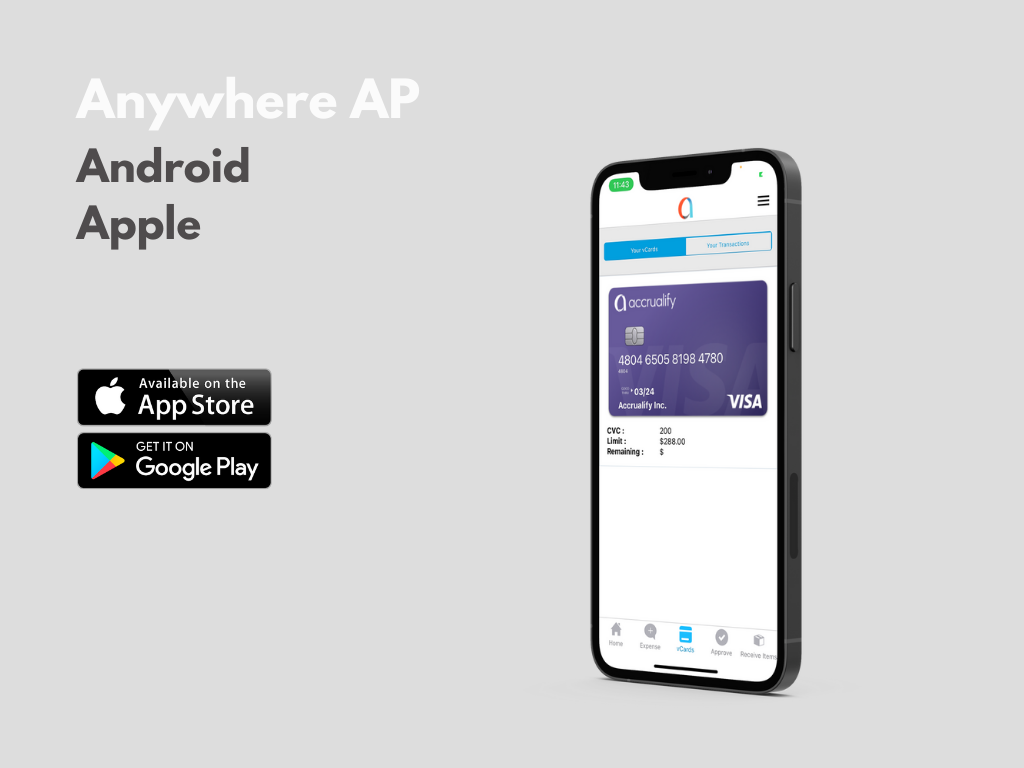 Accrualify Spend Management Platform Software - With our native iOS and Android apps, your company employees can continue to make purchase order requests as potential expenses may arise.