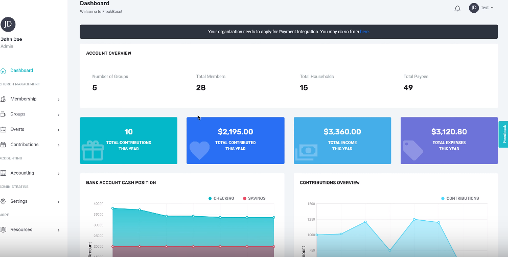 FlockBase screenshot: FlockBase dashboard