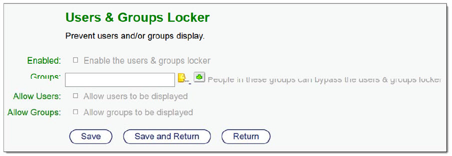 Content Suite Security and Productivity Pack user & group locker