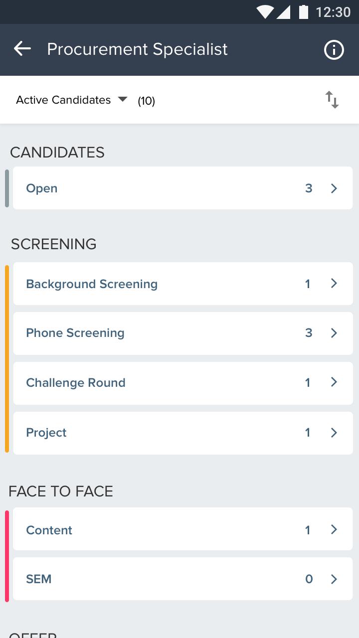 Freshteam - Mobile screening