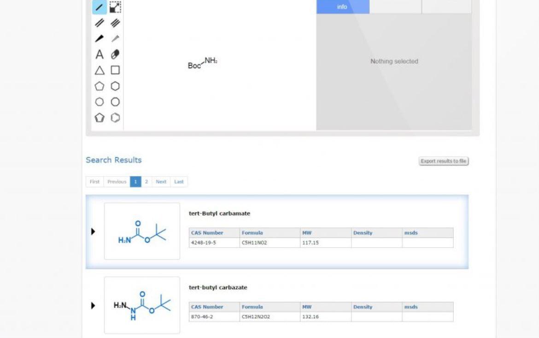 FindMolecule search results