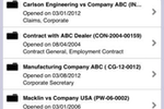 Legal Files screenshot: Legal Files recent files