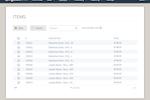 Captura de tela do Heartland Retail: Heartland Retail Item Table