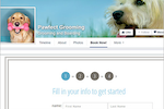 123Pet Software screenshot: Capture online bookings with website and social media integrations, bringing in new client registrations within a matter of clicks