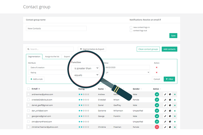 Hit your right audience using enhanced segmentation of your customers. You can filter, group and segment the audience as you need to drive better results of your email marketing strategy.