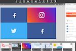 Play Digital Signage screenshot: We offer Facebook, Instagram, Twitter and Youtube social media plugins.
