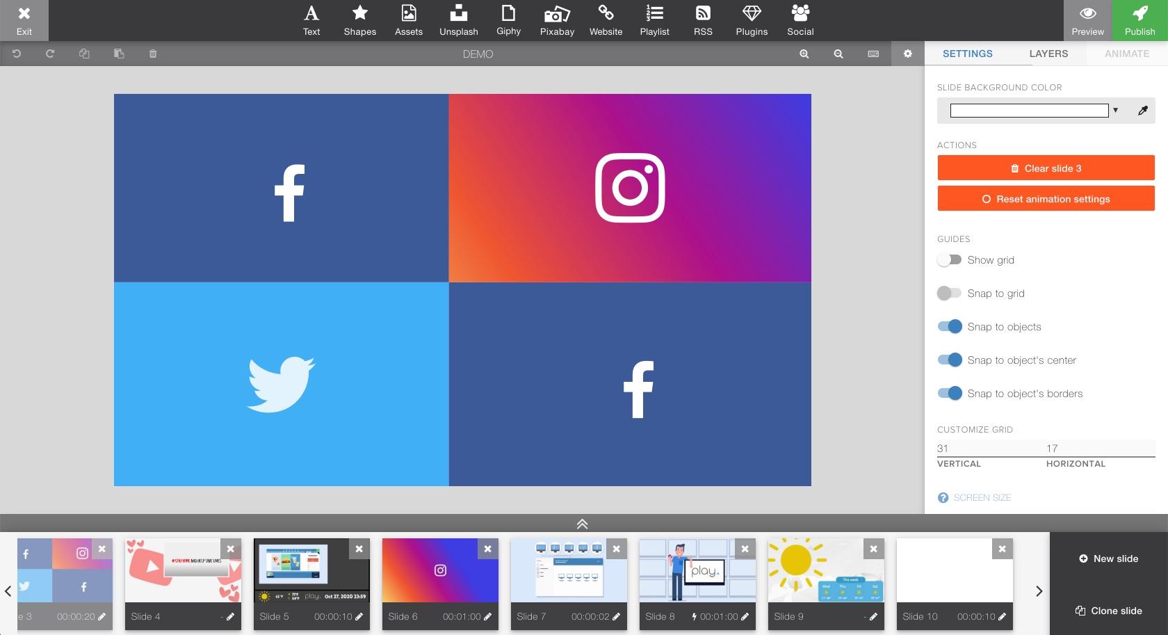 We offer Facebook, Instagram, Twitter and Youtube social media plugins.