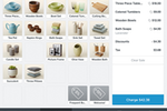 Square Point of Sale Screenshot: Users can add discounts, such as frequent buyer or welcome discounts, to the POS