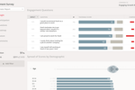 Culture Amp screenshot: Help leaders understand their results with built-in benchmarks