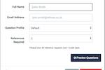 RefNow Screenshot: RefNow new reference form