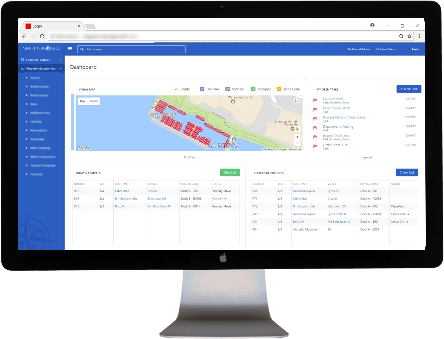 Centralized property management dashboard